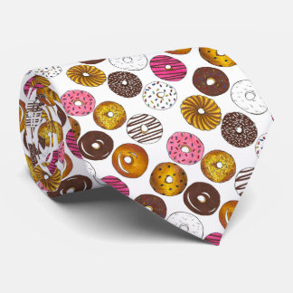Dozen Donuts Doughnut Breakfast Novelty Junk Food Tie