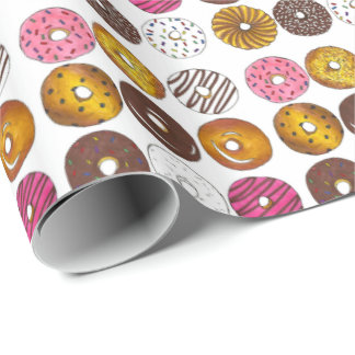 Dozen Donuts Doughnuts Foodie Donut Wrapping Paper