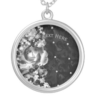 Dozen Roses Silver Plated Necklace