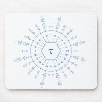 Dozenal tau unit circle mousepad