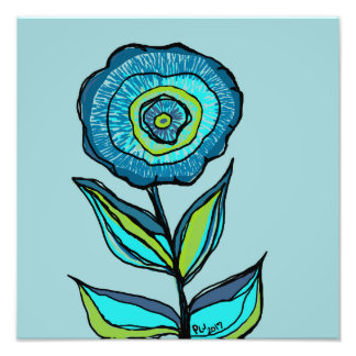 DP178 Single Blue Flower Photograph