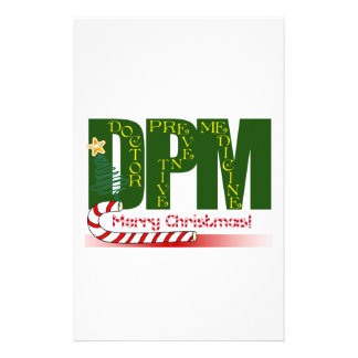 DPM DOCTOR PREVENTIVE MEDICINE CHRISTMAS CUSTOMIZED STATIONERY