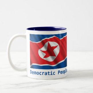 DPRK flag Mug/cup Two-Tone Coffee Mug