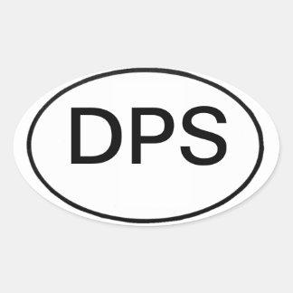 DPS: international motor vehicle reg. Oval Sticker