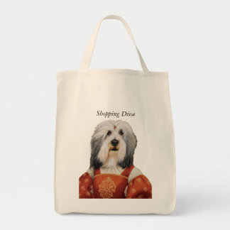 DR131 bearded collie shopping diva bag
