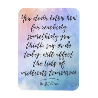 Dr B. J. Palmer Quote Calligraphy Watercolor Rectangular Photo Magnet