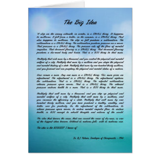 "Dr. B J Palmer ""The Big Idea"" Note Cards"