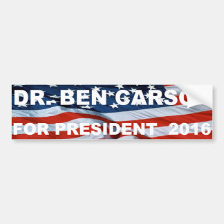 Dr.Ben Carson for president 2016 bumper sticker