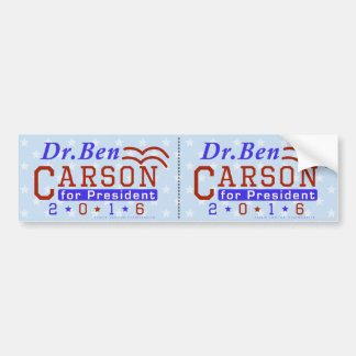 Dr. Ben Carson President 2016 Election Republican Bumper Sticker