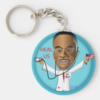 Dr. Ben Heal US Basic Round Button Key Ring