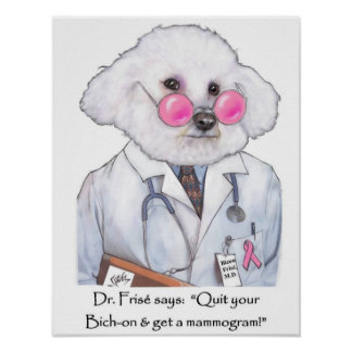 Dr. Bizou Frise on Mammograms Poster
