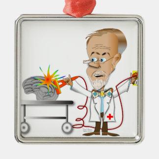 Dr. Braino Silver-Colored Square Decoration