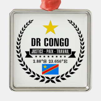 DR Congo Metal Ornament