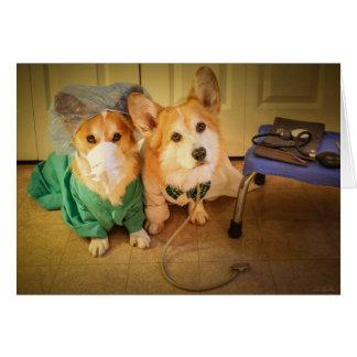 Dr Corgi and Nurse Speedy Recovery Card