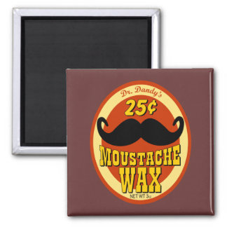 Dr. Dandy's Moustache Wax Refrigerator Magnets