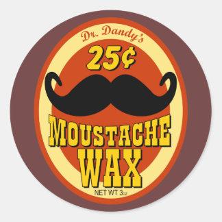 Dr. Dandy's Moustache Wax Round Sticker
