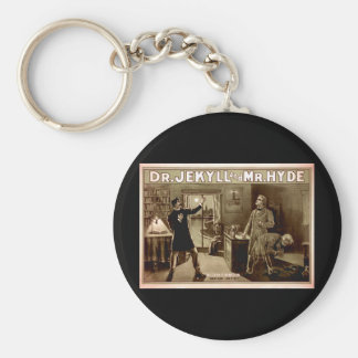 Dr. Jekyll and Mr. Hyde Vintage Illustration 1880s Key Ring