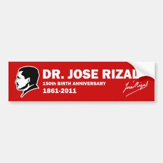 Dr. Jose Rizal @ 150th Birth Anniversary Bumper Sticker