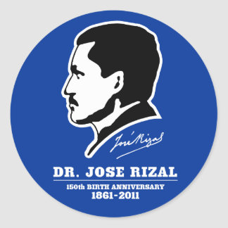 Dr. Jose Rizal @ 150th Birth Anniversary Souvenirs Classic Round Sticker