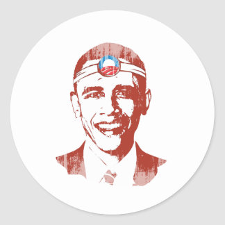 Dr. Obama red Faded.png Sticker