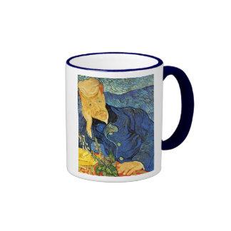 Dr. Paul Gachet Portrait, Vincent Van Gogh Ringer Coffee Mug