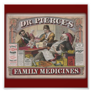 Dr. Pierce's family medicines old tyme ad Photograph