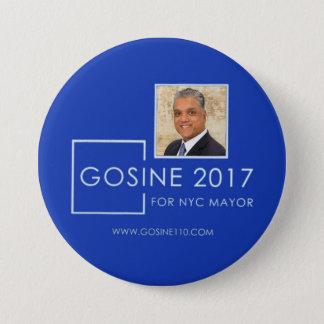 Dr. Robb Gosine for NYC Mayor in 2017 7.5 Cm Round Badge