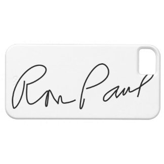 "Dr. Ronald Ernest ""Ron"" Paul Signature Autograph Barely There iPhone 5 Case"