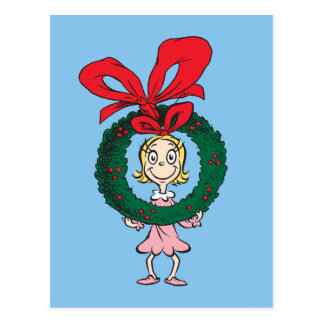Dr. Seuss | Cindy-Lou Who - Wreath Postcard