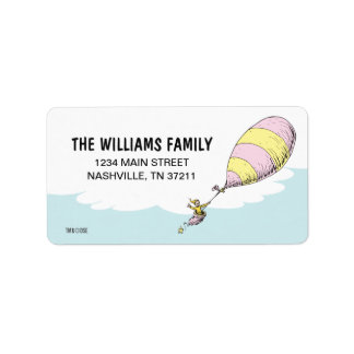 Dr. Seuss | Oh! The Places You'll Go! Address Label