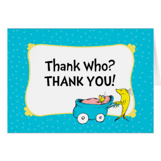 Dr. Seuss | One Fish - Boy Baby Shower Thank You Card