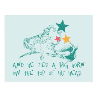 Dr. Seuss | The Grinch and Max Postcard
