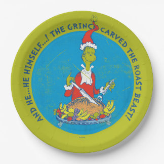 Dr Seuss | The Grinch | Christmas Roast Beast Paper Plate
