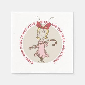 Dr Seuss | The Grinch | Cindy Lou Who - Cute Quote Disposable Serviettes