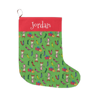 Dr Seuss | The Grinch | Cindy Lou Who Pattern Large Christmas Stocking