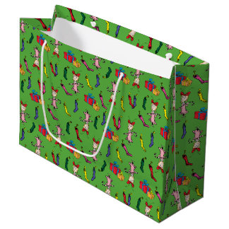 Dr Seuss | The Grinch | Cindy Lou Who Pattern Large Gift Bag