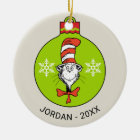 Dr Seuss | The Grinch | Classic The Cat in the Hat Ceramic Ornament