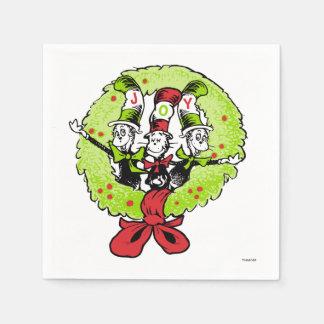 Dr Seuss | The Grinch | Whoville Christmas Joy Disposable Serviettes