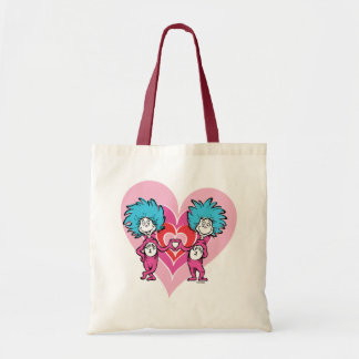Dr. Seuss Valentine | Thing 1 Thing 2 Tote Bag