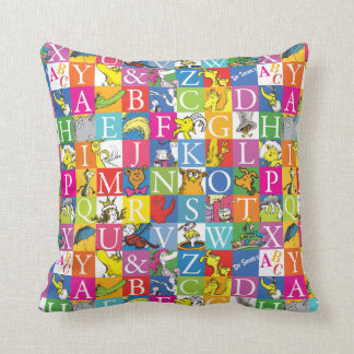 Dr. Seuss's ABC Colorful Block Letter Pattern Cushion