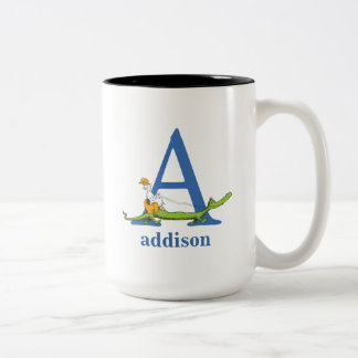 Dr. Seuss's ABC: Letter A  - Blue | Add Your Name Two-Tone Coffee Mug