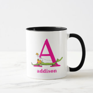 Dr. Seuss's ABC: Letter A - Pink | Add Your Name Mug