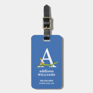 Dr. Seuss's ABC: Letter A - White | Add Your Name Luggage Tag