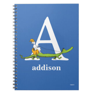 Dr. Seuss's ABC: Letter A - White | Add Your Name Notebook