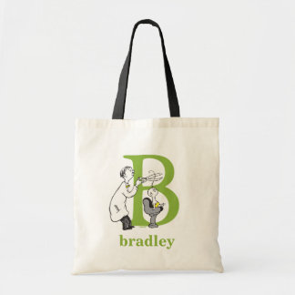 Dr. Seuss's ABC: Letter B - Green | Add Your Name Tote Bag
