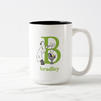 Dr. Seuss's ABC: Letter B - Green | Add Your Name Two-Tone Coffee Mug