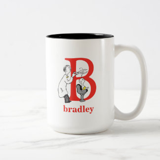 Dr. Seuss's ABC: Letter B - Red | Add Your Name Two-Tone Coffee Mug