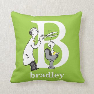 Dr. Seuss's ABC: Letter B - White | Add Your Name Cushion