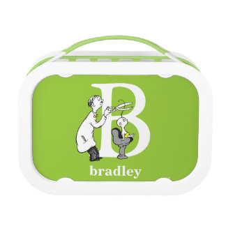 Dr. Seuss's ABC: Letter B - White | Add Your Name Lunchboxes