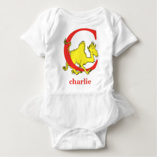 Dr. Seuss's ABC: Letter C - Red   Add Your Name Baby Bodysuit